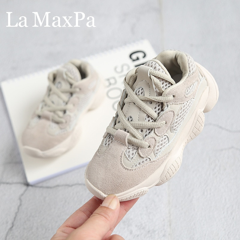 2020 Ins New Boys Girls Lace-Up Sneakers Baby/Toddler/Little/Big Kid Genuine Leather Trainers Childr