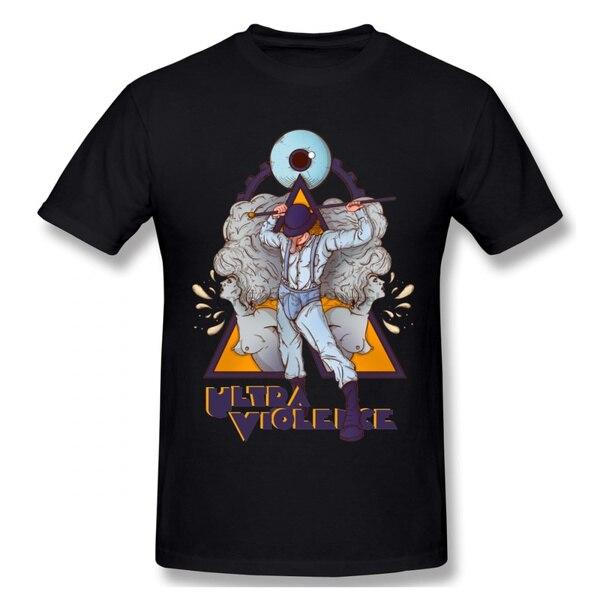 2020 un reloj naranja Camiseta ULTRAVIOLENCE para los hombres de talla grande...