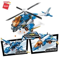 qman 604pcs city space mechanical dragon model building block sets 3in1 deformed airplane brick children christmas toys gift