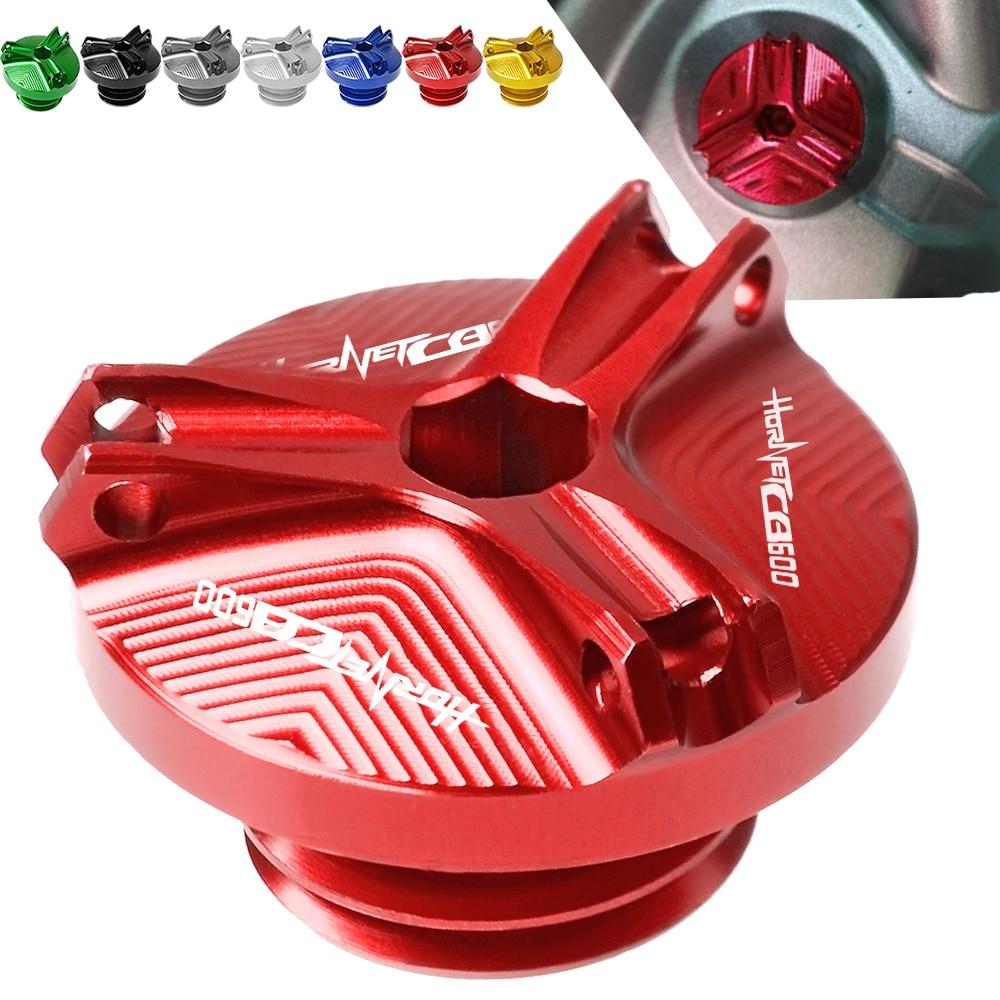For Honda CB600F HORNET 1998 1999 2000 2001 2002 2003 2004 2005 2006 Motorcycle Aluminum Engine Oil Filter Cup Plug Cover screws