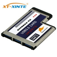 XT-XINTE 3 Ports Hidden Inside USB 3.0 to Expresscard 54mm USB3.0 Adapter Converter for PCMCIA Express Card Laptop Notebook PC