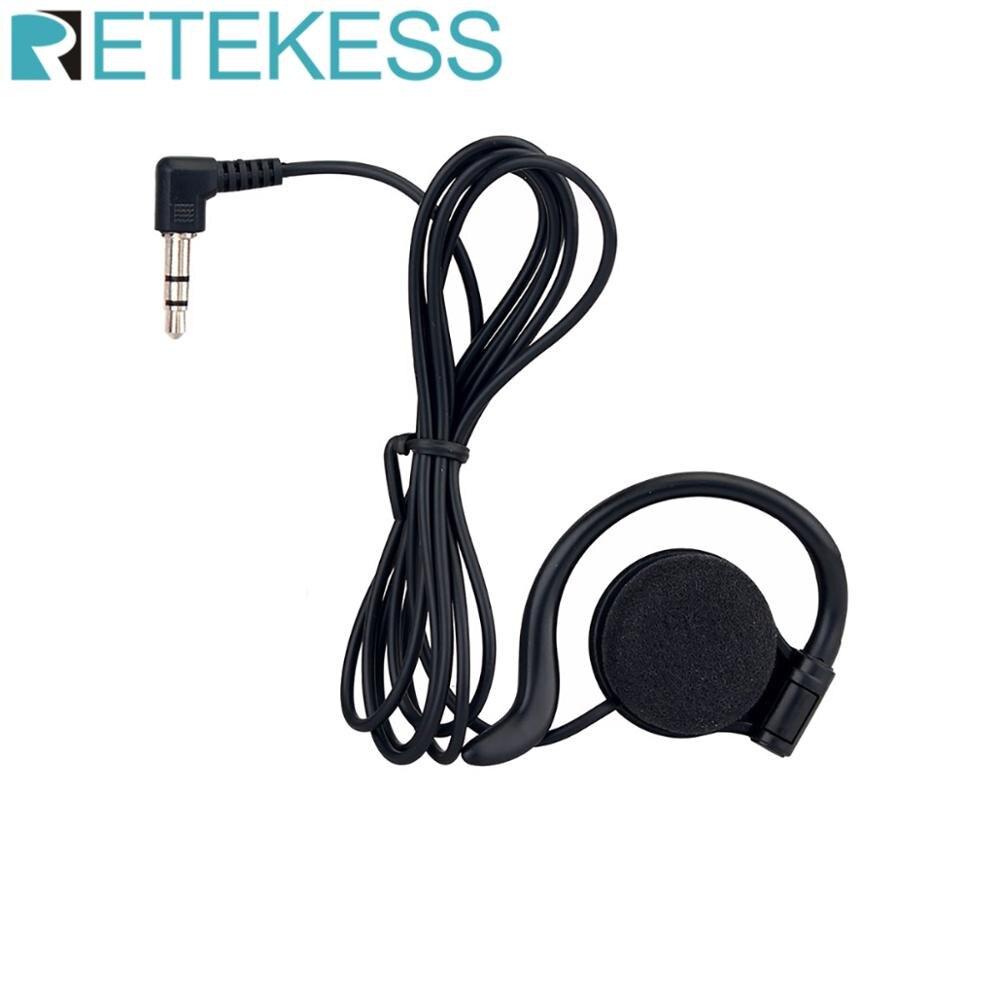 RETEKESS 3.5mm Listen Only Earpiece Headset Earphone for Radio Wireless Tour guide System F4510A
