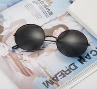 retro vintage sunglasses round metal clear sunglasses womens fashion glasses driver goggles brand designer circle frame glasses