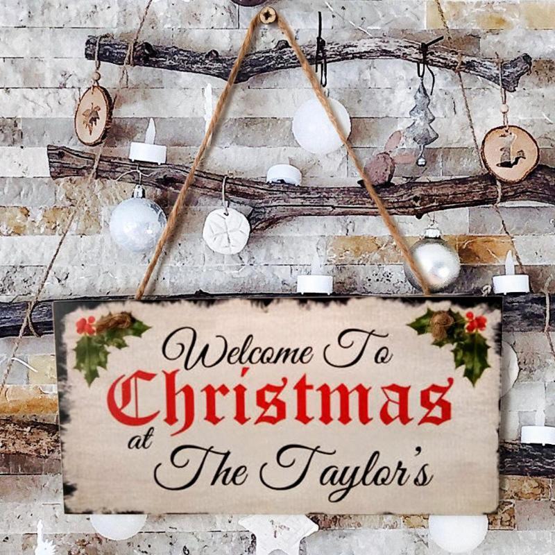 Creativo madera Feliz Navidad cartel colgante tablero MDF Festival colgante tronco color nórdico Retro Elk hogar ventana ornamento