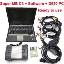 Диагностический инструмент MB STAR C3 лучшего качества с программным обеспечением HDD MB C3 Pro Диагностический мультиплексор с D630 диагностический ноутбук полный комплект