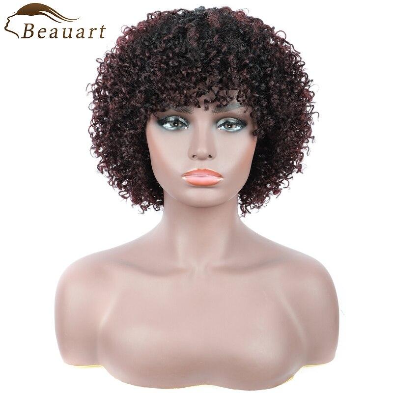 Beauart Human Hair Bob Cut Full Wigs For Black Women 12