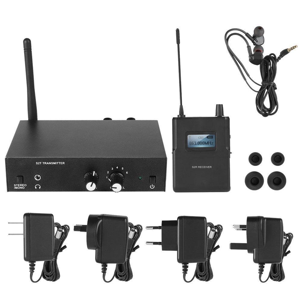 Para anleon s2 estéreo 526-535mhz sem fio no sistema do monitor da orelha para a monitoração do assoalho do estúdio da fase apropriada para casamentos