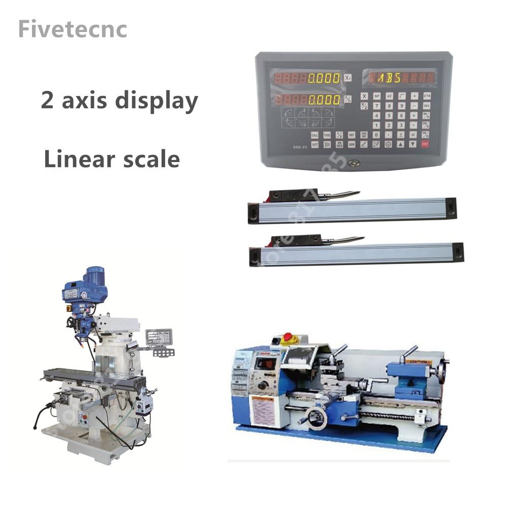 2-осевой цифровой индикации дисплей DRO с 120-520 мм линейная шкала линейный кодировщик линейная линейка для токарно-фрезерный станок