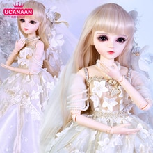 UCanaan 1/3 BJD Doll 60CM 18 Ball Jointed Dolls With Outfits Palace Maxi Dress Wig Shoes Makeup Toys