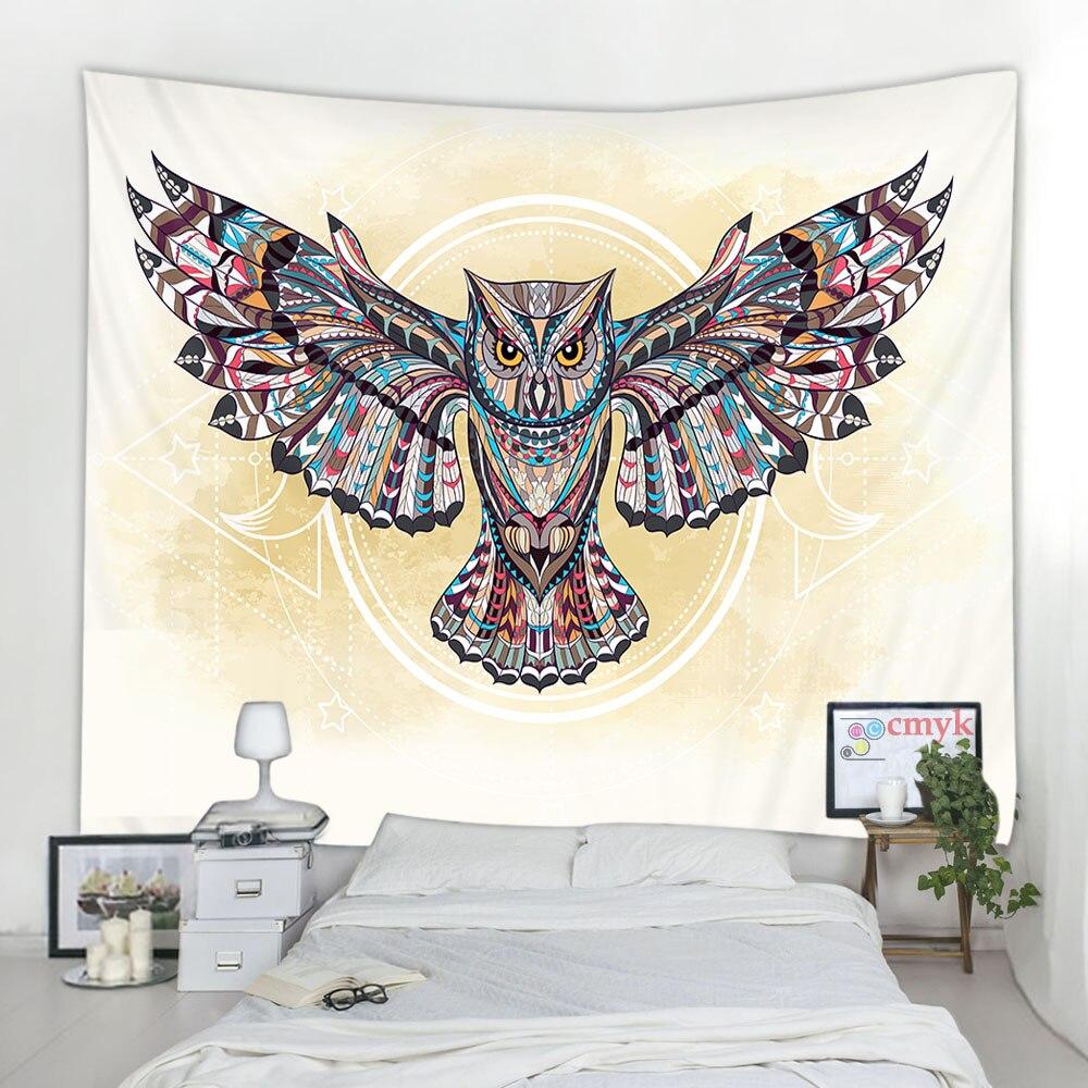 Tapisserie murale avec motif déléphant, de tigre, daigle, tapis suspendu au mur, couverture de serviette de plage