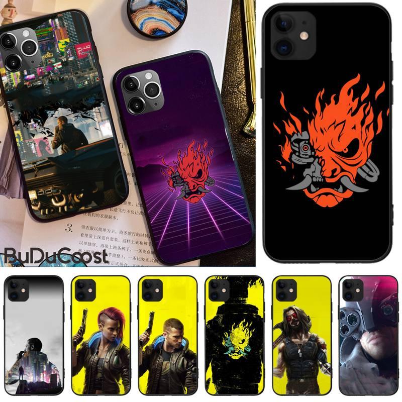 Cyberpunks 2077 jogo quente caso de telefone para iphone 12 pro max 11 pro xs max 8 7 6s plus x 5S se 2020 xr