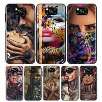 sexy sleeve tattoo girl for xiaomi poco x3 nfc m3 m2 x2 f3 f2 pro c3 f1 mi play mix 3 a2 a1 6x 5x soft phone case