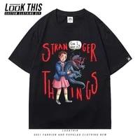 strange things o neck short sleeve mens t shirt tv show pattern men t shirt tops oversized tshirt t shirt tee shirt clothes