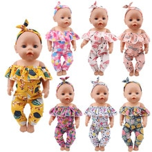 Doll Clothes 18-Inch Strapless Jumpsuit 2 Piece, Jumpsuit + Hair Band For 18 Inch American&43Cm Baby