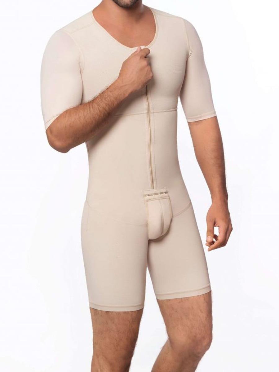 ملابس داخلية لتشكيل الجسم وفقدان الوزن للرجال ، مقاس كبير 6XL ، المنشعب المفتوح ، حزام البطن ، مدرب الخصر