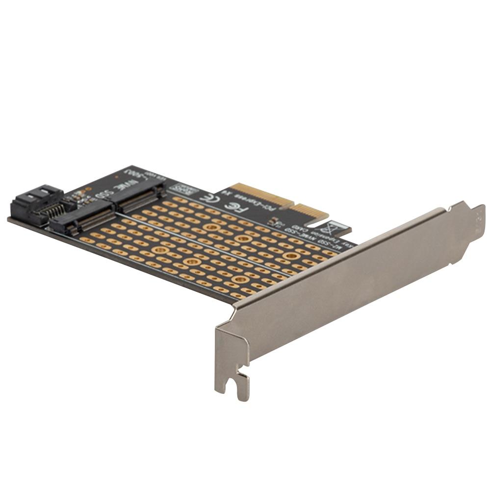 محول PCIE إلى M2/M.2 محول SATA M.2 SSD PCIE NVME/M2 PCIE محول SSD M2 إلى SATA PCI-E بطاقة M مفتاح + B لوحة تحويل المفاتيح