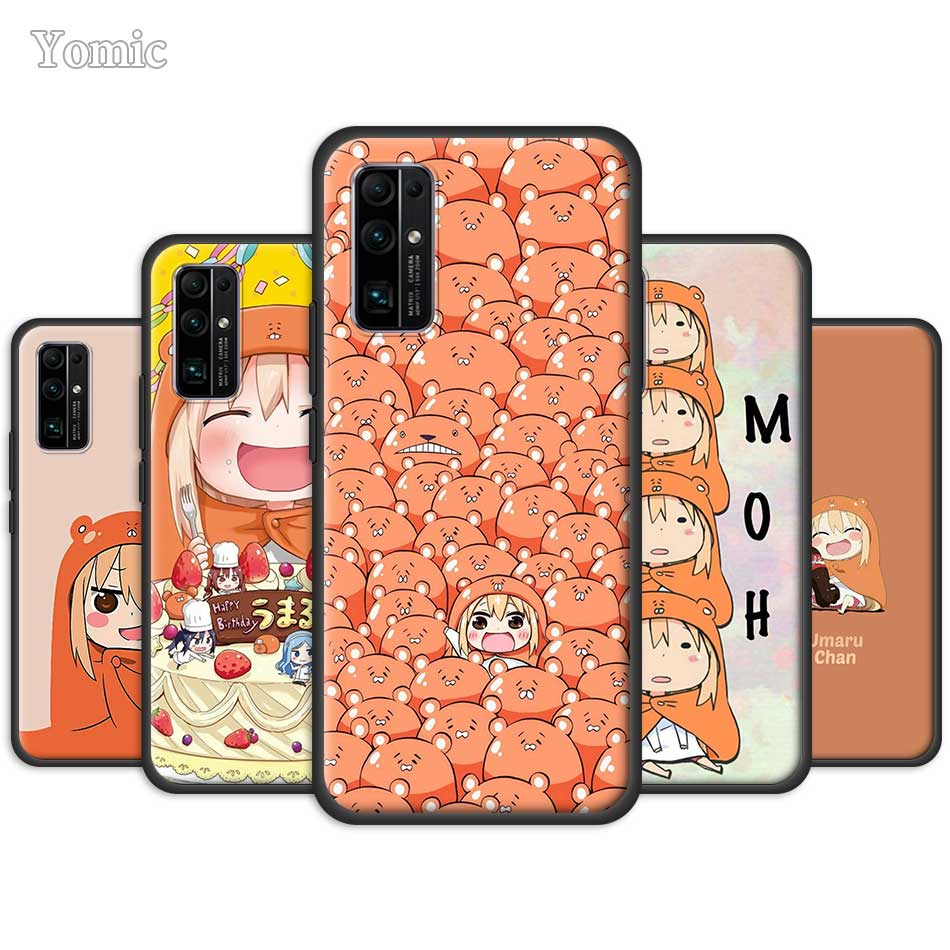 Para Huawei Honor 20 Pro 9A 9X 9C 9S 8X 30 Y9s Y6 Y7 Y9 2019 Y9a funda de teléfono suave himuto Umaru chan cubierta negra Mate 20 Lite