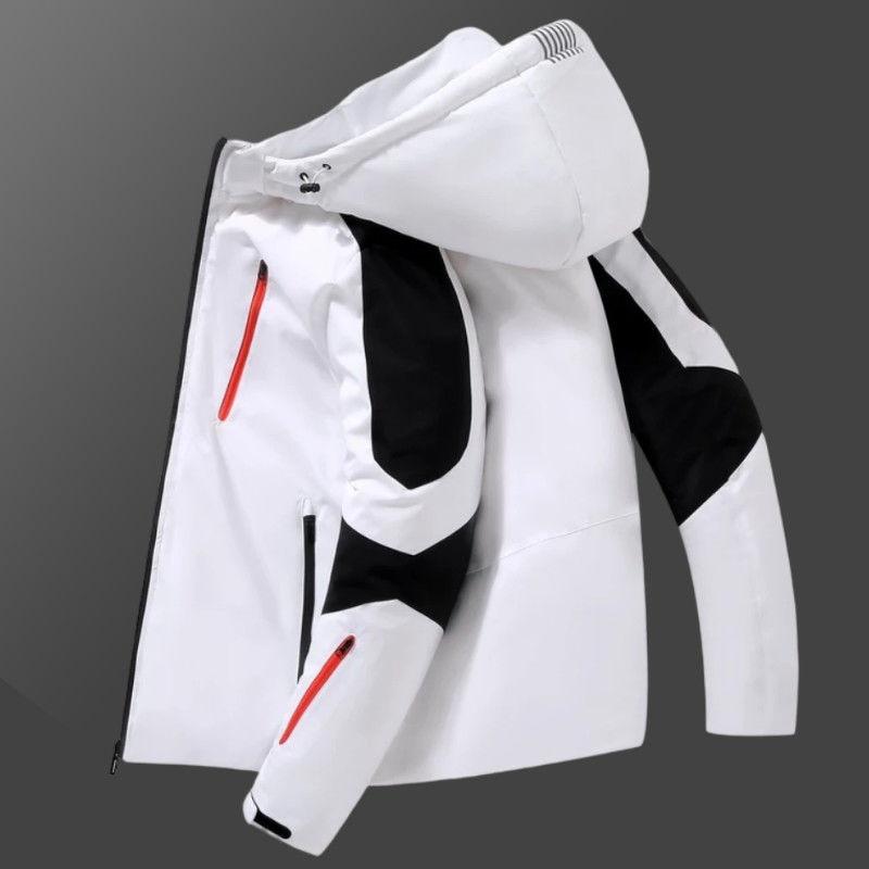 Новая зимняя рабочая одежда, пуховик, Мужская короткая мужская и женская модная утепленная парная Молодежная куртка с капюшоном для мужчин