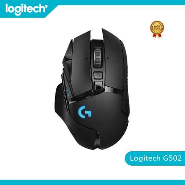جديد الأصلي لوجيتك G502 بطل لايت سبيد ماوس الألعاب اللاسلكية اللاسلكية 2.4 جيجا هرتز بطل 16000 ديسيبل متوحد الخواص RGB مناسبة للاعبين e-sports