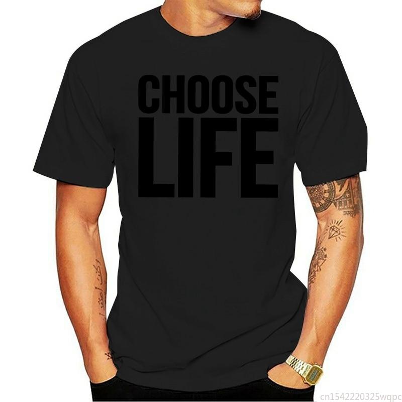 Elección de la vida-Camiseta de algodón con cuello redondo para mujer... ropa...