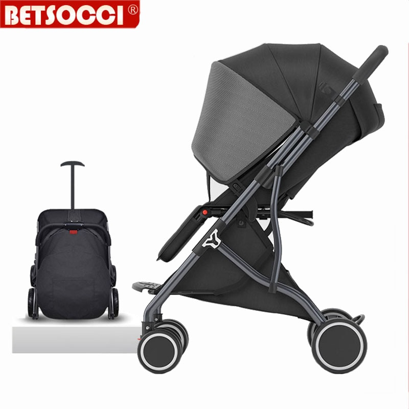 BETSOCCI Baby Stroller Folding 4 Wheels Shock Absorption Stroller for Newborn Portable Travel Baby carriage Russia Free shipping
