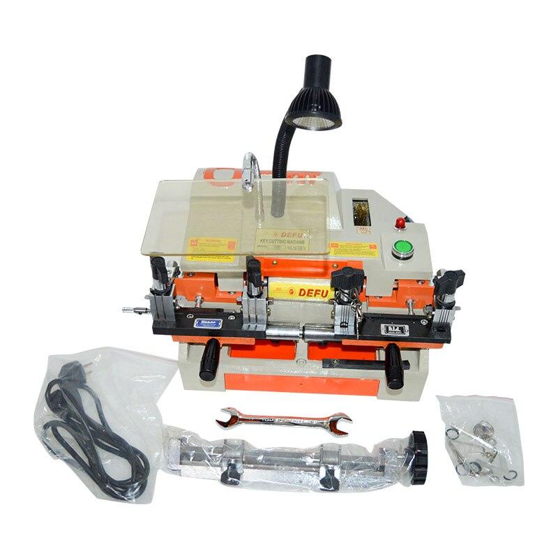 220V/50HZ Key Cutting Machine Multi-Fuctional Chucking Horizontal Double Head Keying Machine Key Duplicating Machine 100-E1