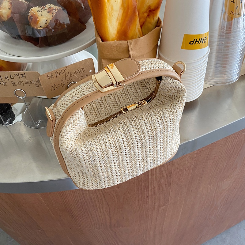 Vento Marea Straw Crossbody Bag For Women 2020 New Bohemian Small Knitting Summer Purse And Handbag Vacational Bucket Beach Bags