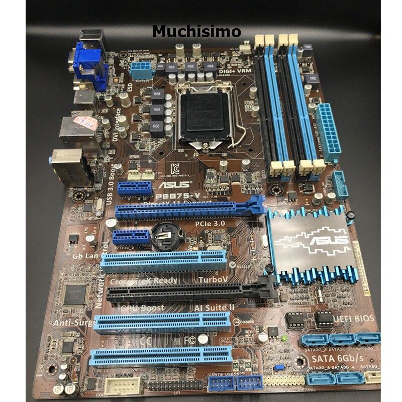 Asus LGA 1155 P8B75-V оригинальная настольная Материнская плата Intel B75 Socket i3 i5 i7 DDR3 32G SATA3 USB3.0 AT, 100% протестированная материнская плата, используемая