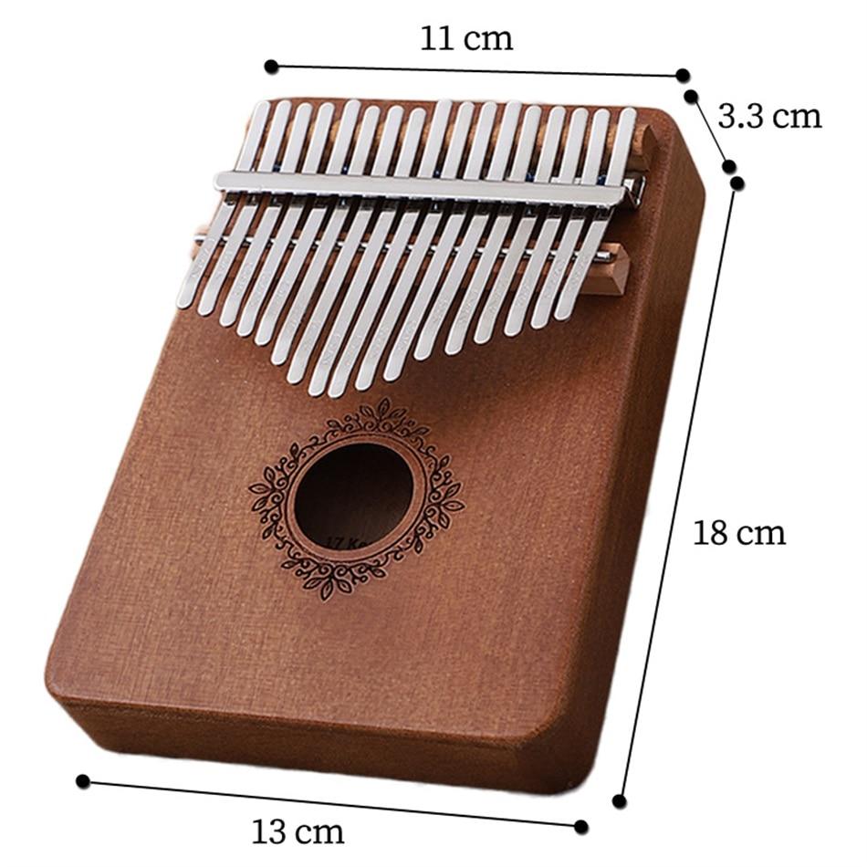17 key  Perfect Gauntlets Piano Mahogany kalimba Musical Instrument Beginner Thumb Piano With Accessory Wood acoustic musical i enlarge