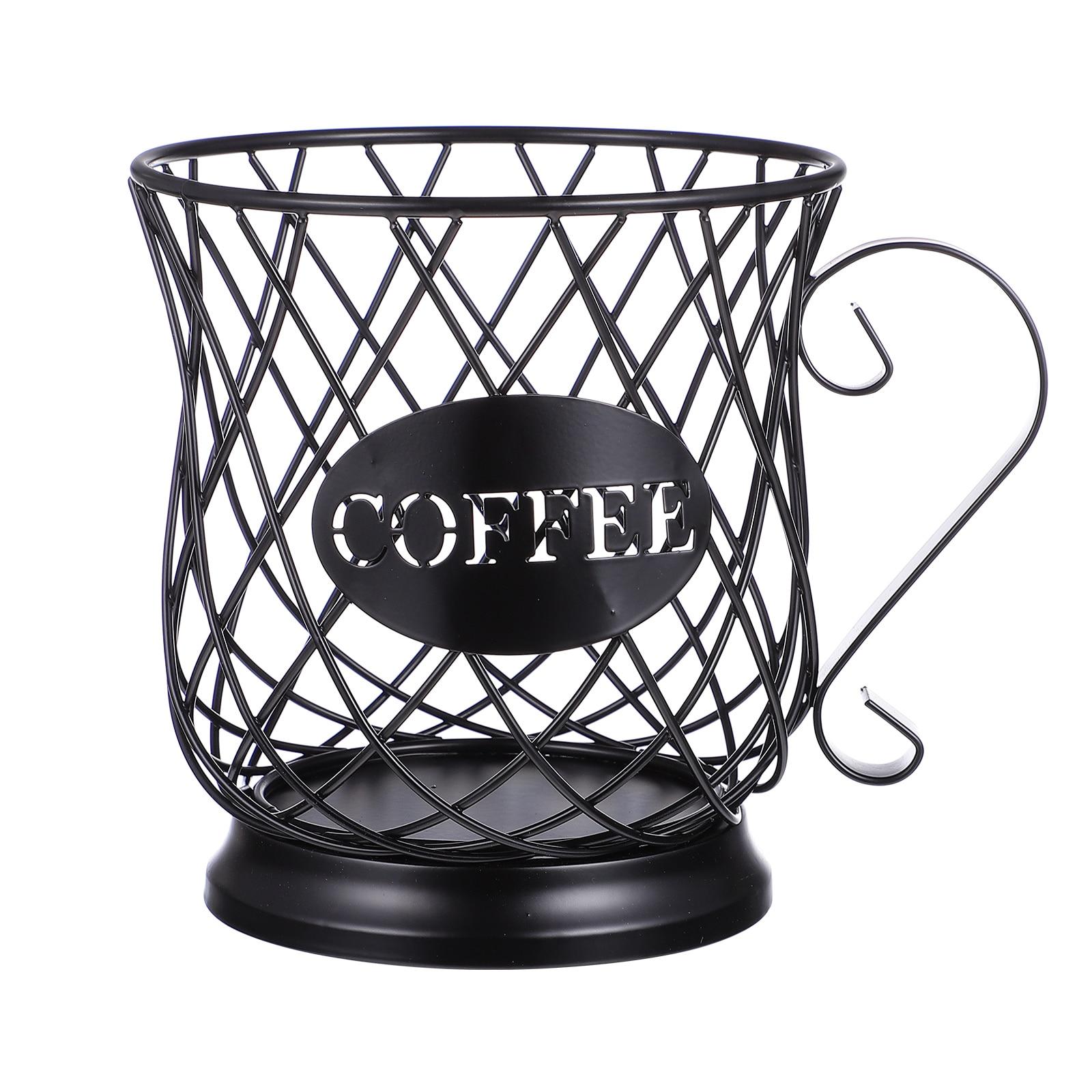 معدن حامل قهوة ل مضخة قهوة حامل تخزين سلة منظم