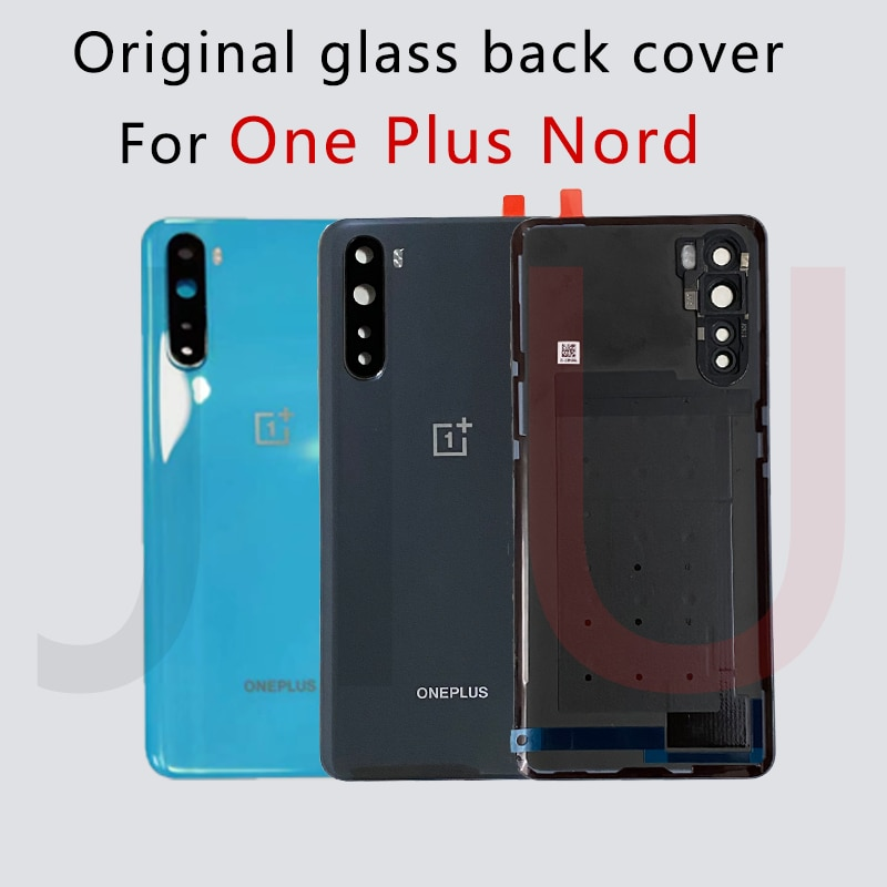 For OnePlus Nord,100% Original battery glass back cover ,Replace the back case for oneplus Nord