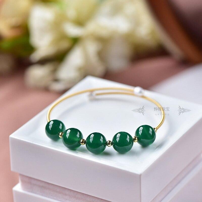 Brazaletes de perla Natural de agua dulce para mujeres compromiso de boda joyas brazalete con piedras Pulseras naturales