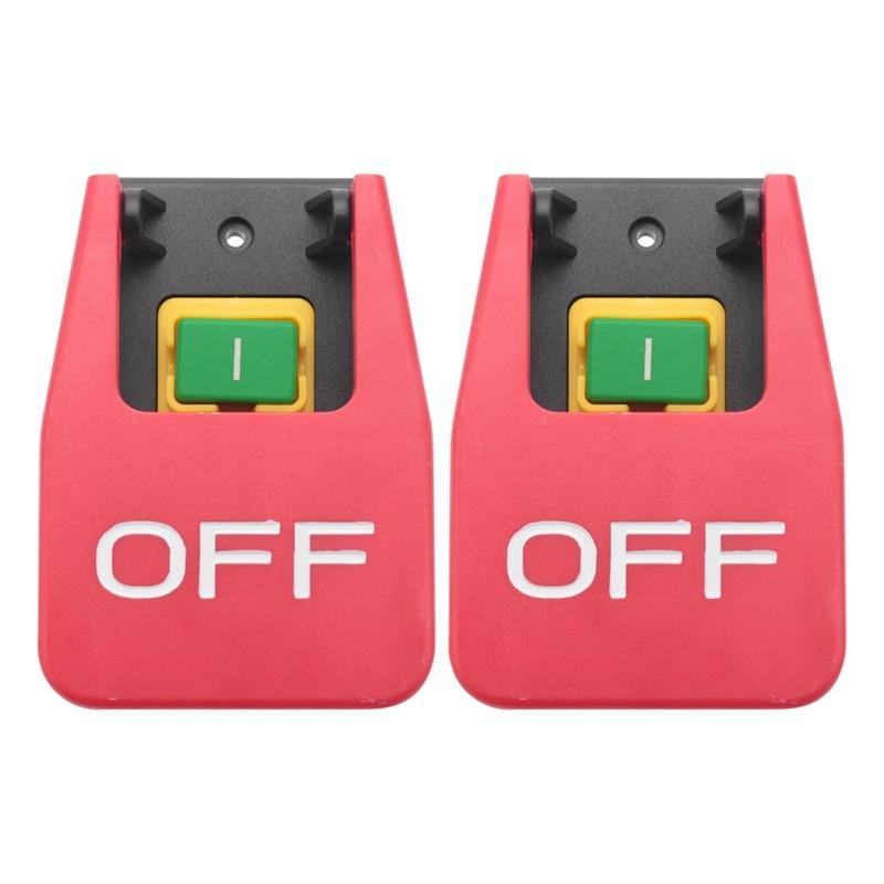 2X Off-On غطاء أحمر الطوارئ وقف مفتاح بـزر دفع 16A السلطة قبالة/تحت الجهد حماية الكهرومغناطيسية بدء التبديل