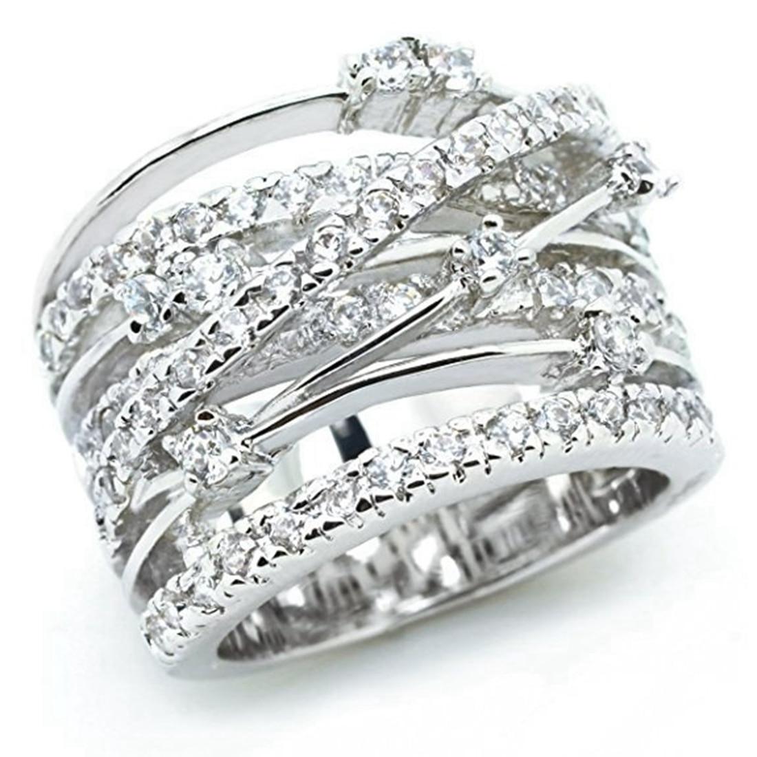 Женское кольцо в виде браслета, Серебряное розовое золото, 2019