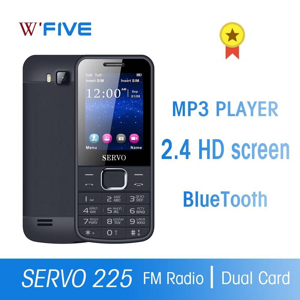 Original teléfono Dual SIM tarjetas 2,4 pulgadas pantalla teléfonos móviles doble flash Bluetooth linterna FM Radio Botón ruso teléfonos móviles