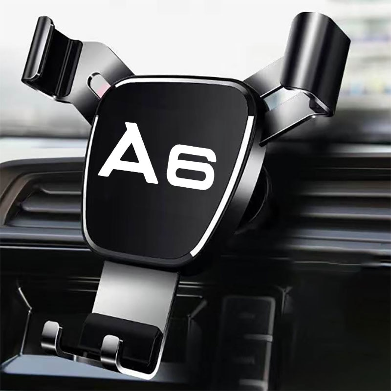 Metal Phone Holder For Audi A6 Accessories Car Air Outlet-Holder Mobile Phone Car Navigation Mobile