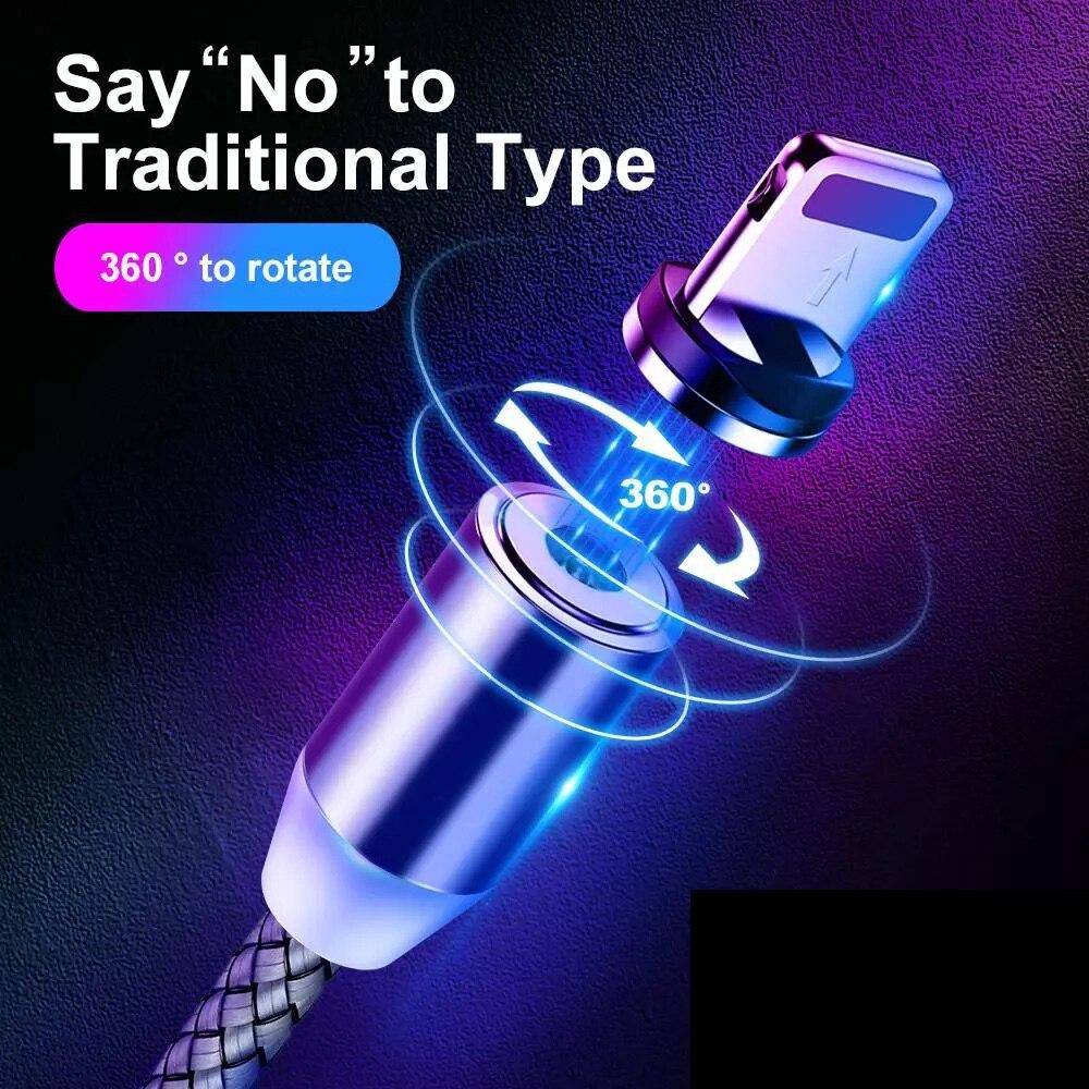 Cable de carga magnético USB para teléfono móvil, Cable de carga rápida...