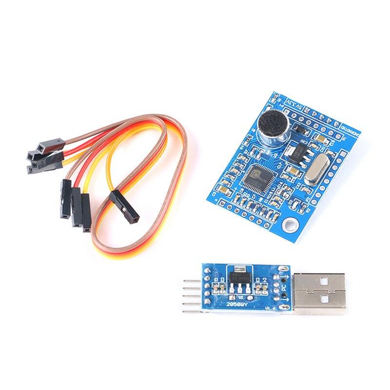 Módulo de reconhecimento de voz interação de voz/controle de som/51 microcontrolador stc ld3320a para brinquedos diy e design inteligente