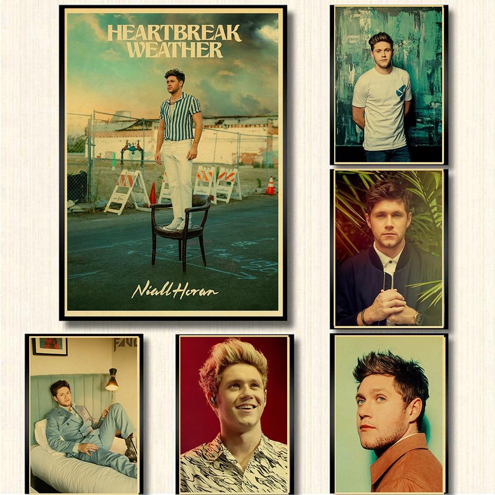 Eine Richtung Mitglied Sänger Niall horan-shirt-männer Retro Poster kraft Papier Prints Klar Bild zimmer Bar Home Kunst malerei wand aufkleber