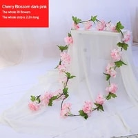 2 2m artificial green plants cherry blossom rattan home furnishing garden decoration diy holiday party pendant green plants