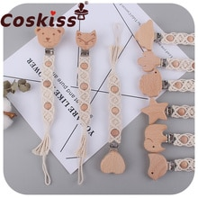Coskiss Baby Products Pacifier Clip Pacifier Chain DIY Creative Handmade Cotton Rope Teether Anti-Dr