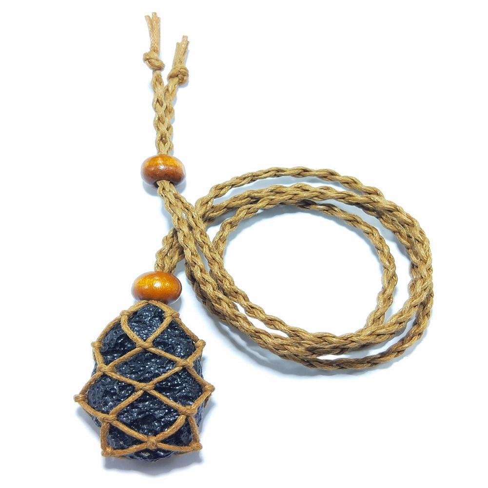 Colgante de meteorito negro Natural amuleto colgante de piedra Natural Irregular de suerte y amor para hombres mujeres joyería de moda regalo Drop Ship