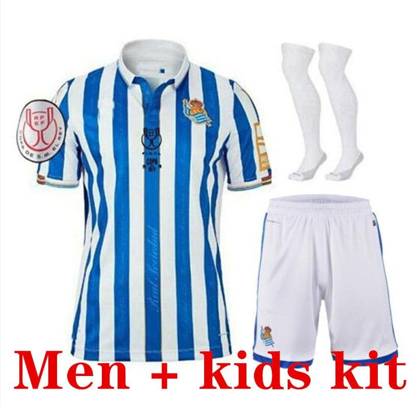 2021 Royal Society cup of the King Version Soccer Jerseys kits 20 21 Real Sociedad Final camiseta men + kids Football Shirts