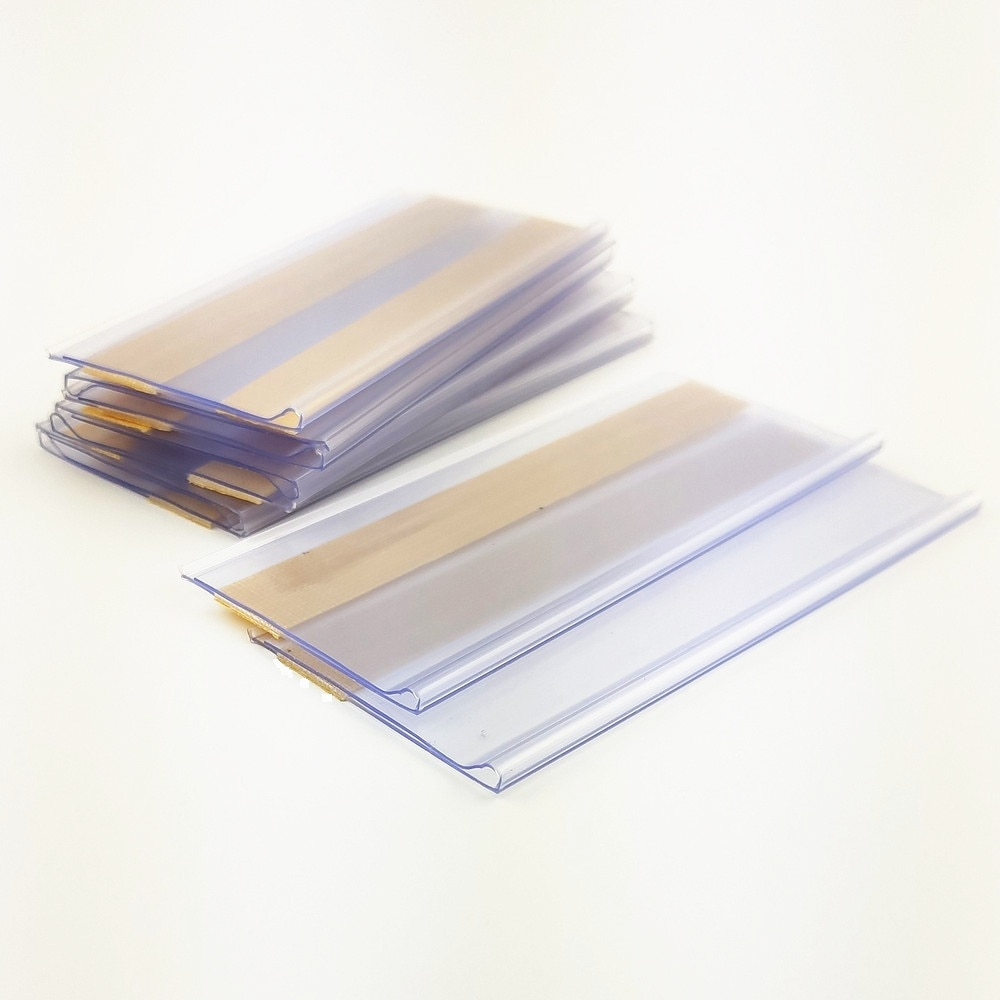Пластиковые полоски для передачи данных из ПВХ, зажим-держатель, цена товара, Такер, знак, этикетка, дисплей с клейкой лентой на задней сторо...