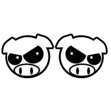 SZWL Evil Rally Pigs Car Sticker Waterproof Decal Animal Pattern Vinyl Accessories for JDM WRX STI I