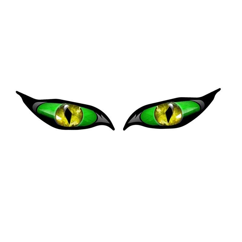 Крутые креативные наклейки для автомобиля, аксессуары, зеленые глаза, мотоциклетные наклейки, автомобильные наклейки, водонепроницаемые в...