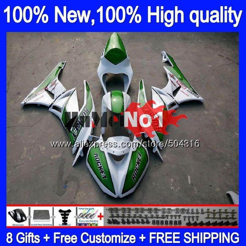 الجسم لكاواساكي ZX636 ZX 6R ZX600 ZX6R 09 10 11 12 سباق! الأخضر 58MC.37 ZX 636 600CC ZX-636 ZX-6R 2009 2010 2011 2012 Fairings