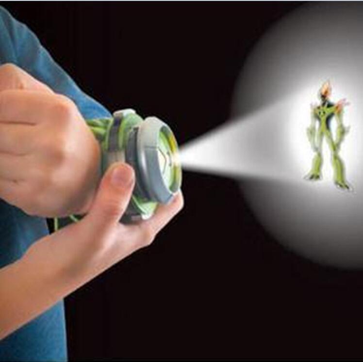 Gran oferta de reloj para niños Benn 10 con estilo Omnitrix, reloj proyector japonés genuino Benn 10, reloj de juguete con soporte medio Drop