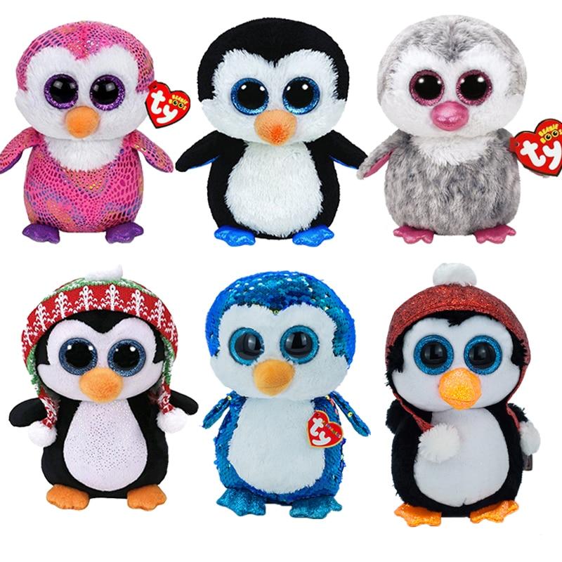 15 см шапочка с большими глазами, Пингвин с шляпой, мягкие плюшевые мягкие милые игрушки, кукла, коллекция, девочка, Ragdoll, рождественский подар... мягкие игрушки orbys пингвин 15 см