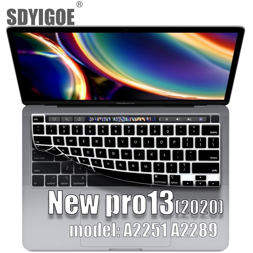 french keyboard protector for macbook retina 12 pro13 eu enter a1708 a1534 a1931 keyboard cover laptop accessories laptop film For macbook pro13 2020 Keyboard cover Laptop protective film 13 inch A2289 A2251 silicone keyboard cover Russian French Spanish